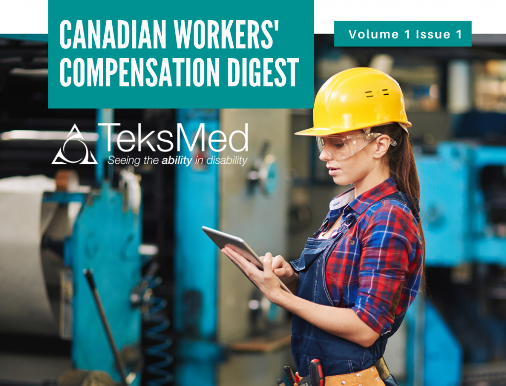 TeksMed in Canadian Workers' Compensation Digest